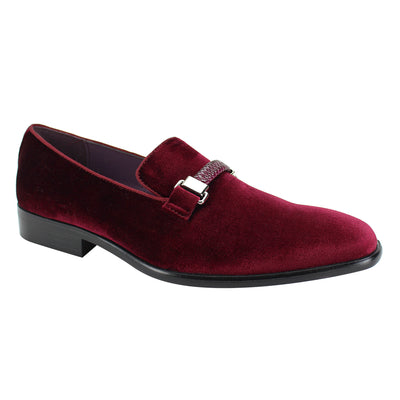 After Midnight Wine Velvet Slip-On Shoes
