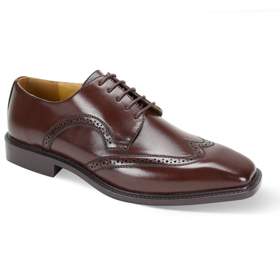 Antonio Cerreli Chocolate Brown Wide Lace-Up Dress Shoes
