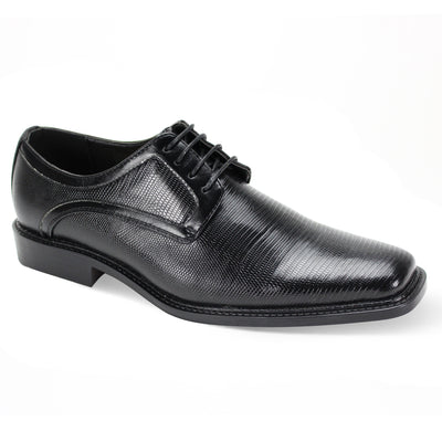 Antonio Cerreli Black Wide Lace-Up Dress Shoes