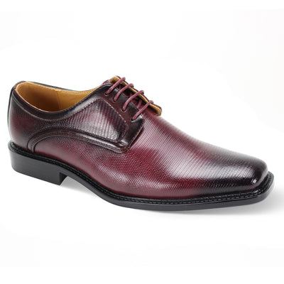 Antonio Cerreli Burgundy Wide Lace-Up Dress Shoes
