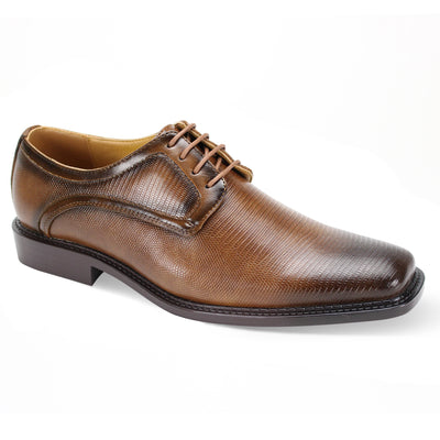 Antonio Cerreli Tan Wide Lace-Up Dress Shoes