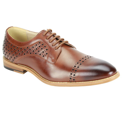 Antonio Cerreli Cognac Lace-Up Dress Shoes