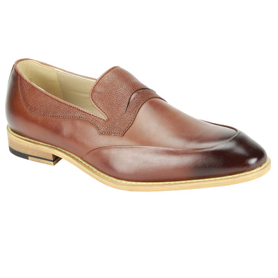 Antonio Cerreli Cognac Slip-On Dress Shoes