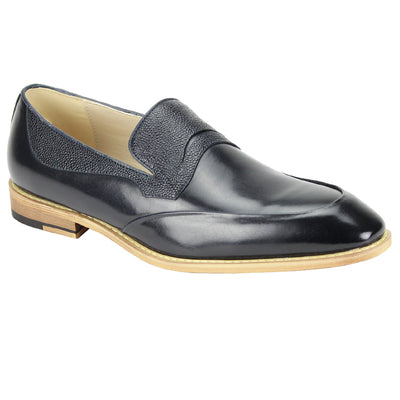 Antonio Cerreli Navy Slip-On Dress Shoes