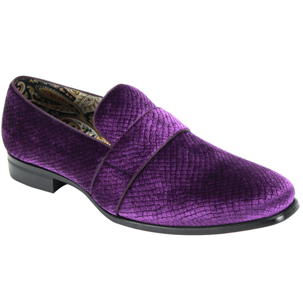 After Midnight Purple Patterned Slip-On Shoes