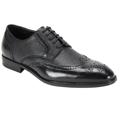 Antonio Cerreli Black Lace-Up Dress Shoes