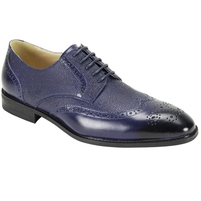 Antonio Cerreli Blue Lace-Up Dress Shoes