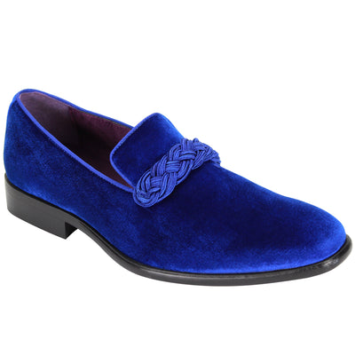 After Midnight Royal Blue Slip-On Velvet Shoes