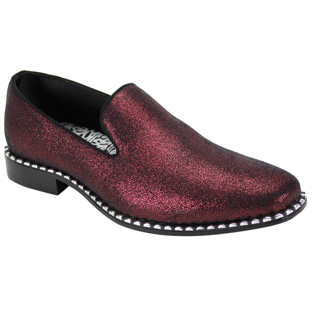 After Midnight Glittered Wine Slip-On Shoes
