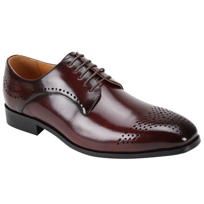 Antonio Cerreli Burgundy Lace-Up Dress Shoes