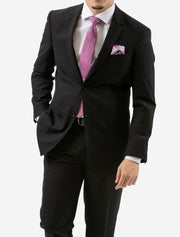Karako Men Black Modern Fit Suit - Front View