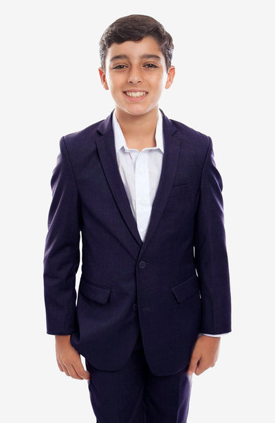 Boy's Navy Suit with Jacket and Pants