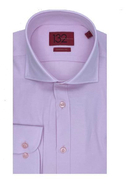 Men's Solid Lace Pink 100% Cotton Tailored Fit Dress Shirt