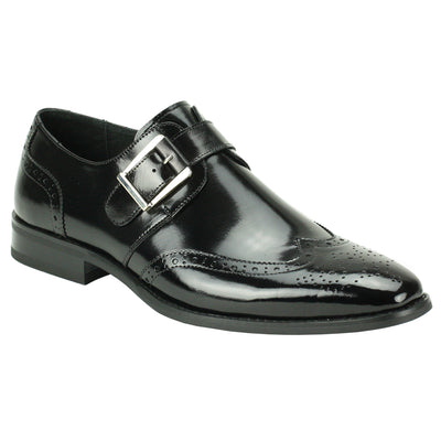 Giovanni Baron Black Monk Strap Men's Dress Shoes