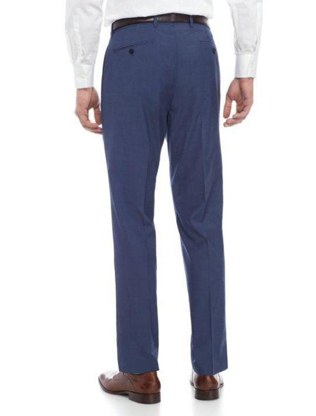 Blue Men's Slim Fit Stretch Suit Separates Pants - Zoomed In