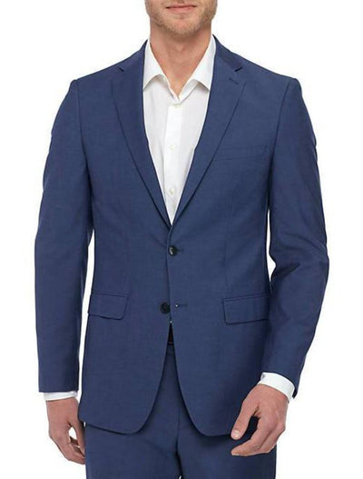 Blue Men's Slim Fit Stretch Suit Separates Jacket - Front