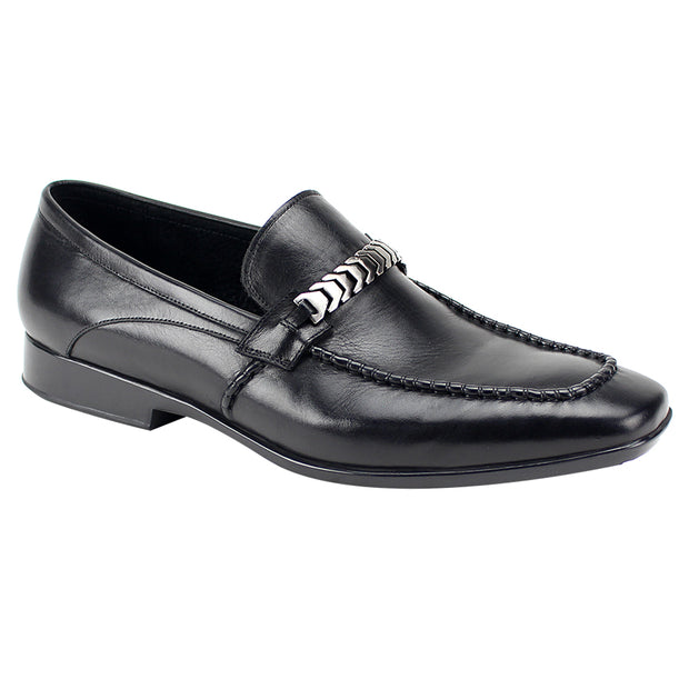 Giovanni Cruz Black Slip-On Men's Dress Shoes