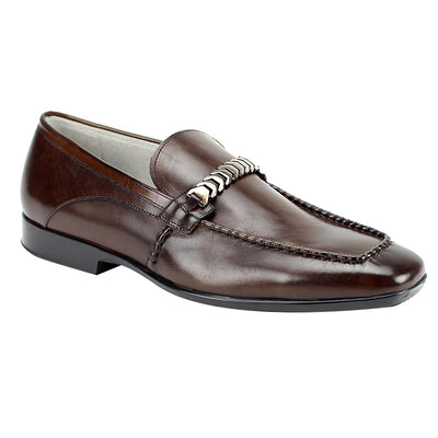 Giovanni Cruz Brown Slip-On Men's Dress Shoes