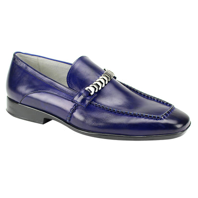 Giovanni Cruz Blue Slip-On Men's Dress Shoes