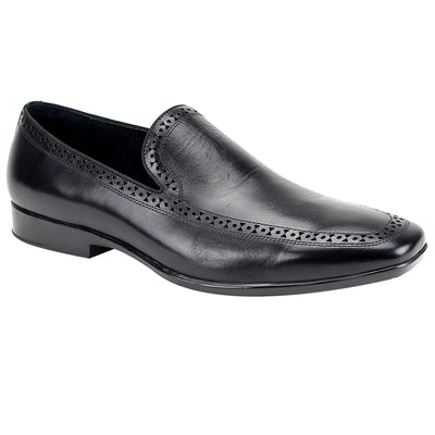 Giovanni Derby Black Slip-On Men's Dress Shoes