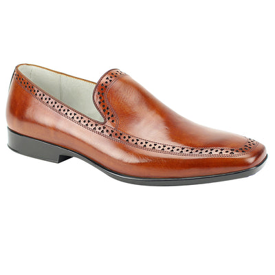 Giovanni Chestnut Brown Slip-On Men's Dress Shoes
