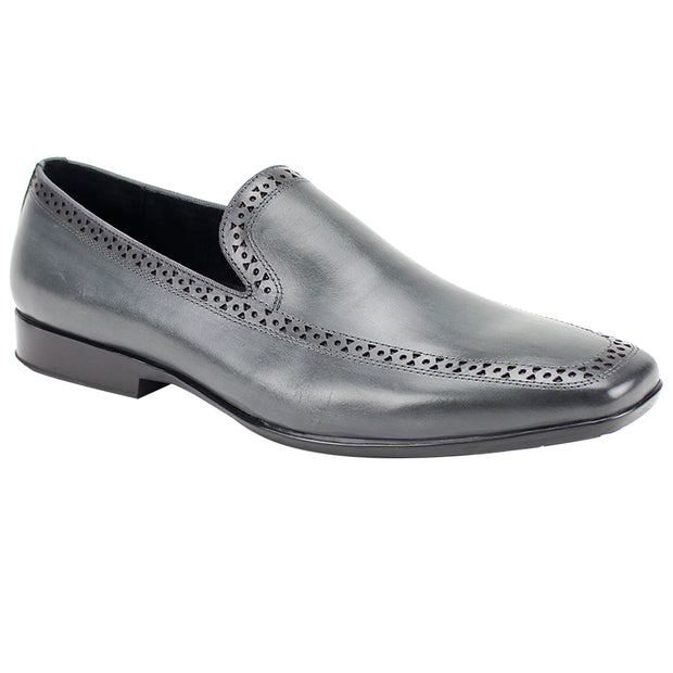 Giovanni Derby Grey Slip-On Men's Dress Shoes