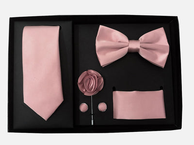 Men's Five Piece Solid Dusty Pink Gift Box