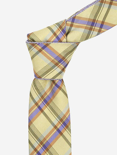 Sunshine Yellow Multi-Colored Reversible Tie