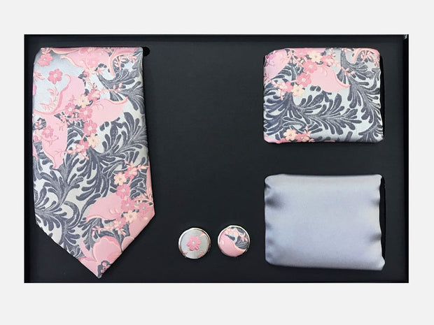 Men's Four Piece Pink Floral Patterned Gift Box