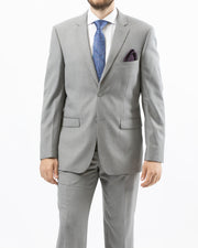 Eleganza Light Grey Modern Fit Suit - Front