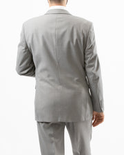 Eleganza Light Grey Modern Fit Suit - Back