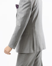 Eleganza Light Grey Modern Fit Suit - Side