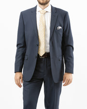 Eleganza Navy Modern Fit Suit - Front