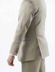 Men's Solid Tan 100% Wool Modern Fit Suit (Big & Tall) - Left Side