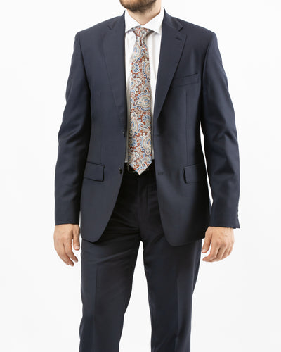 Made in Italy Solid Navy Suit by Naldini - Front