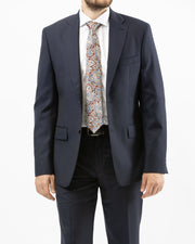 Made in Italy Solid Navy Suit by Naldini