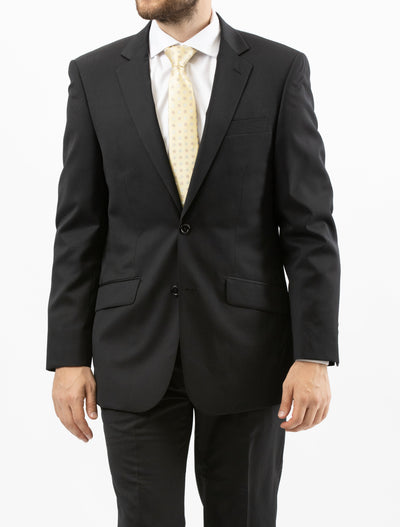 Made in Italy Onyx Black Suit by Naldini - Front