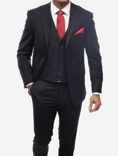 Black Men's Slim-Fit Suit Separates Jacket by Karako's Suits