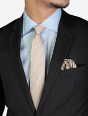 Men's Solid Charcoal Grey Slim Fit Wool Suit - Featuring Notch Lapel