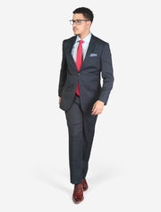 Men's Blue Check Slim Fit Suit