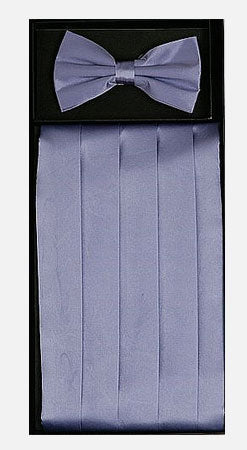 Men's Silk  Lavender Cummerbund with Bow Tie