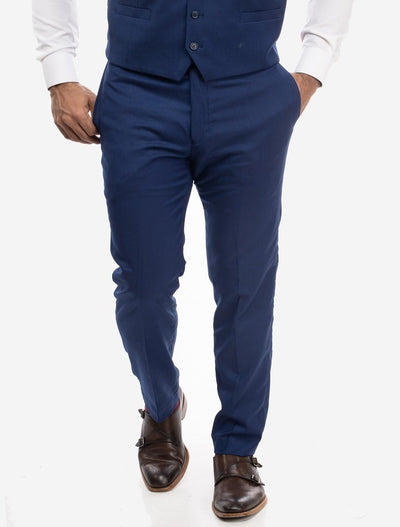 Blue Men's Slim-Fit Suit Separates Pants
