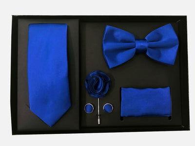 Men's Five Piece Solid Royal Blue Gift Box