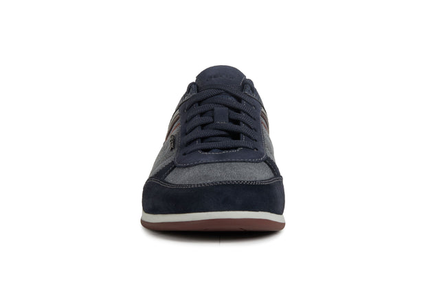 Geox Renan Navy Men's Casual Shoes - Front of Shoes