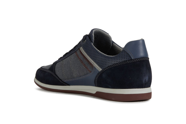 Geox Renan Navy Men's Casual Shoes - Left Side Back