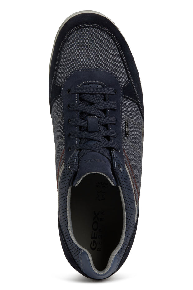 Geox Renan Navy Men's Casual Shoes - Close up of Shoes