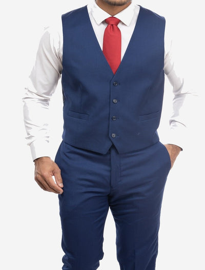Blue Men's Slim-Fit Suit Separates Vest by Karako's Suits