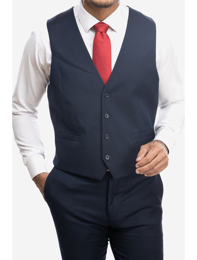 Navy Men's Slim-Fit Suit Separates Vest by Karako's Suits