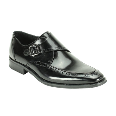 Giovanni Amato Black Monk Strap Men's Dress Shoes