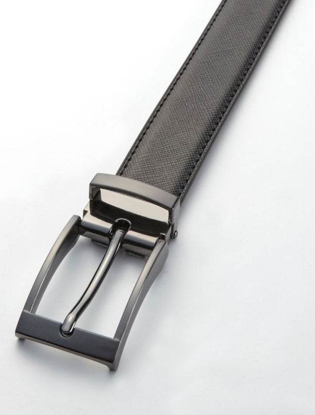 Men's Cognac Dotted Leather Belt